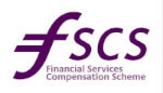 """The acronym """"fscs"""" beside the words """"Financial Services Compensation Scheme"""" in a purple swirling font."""